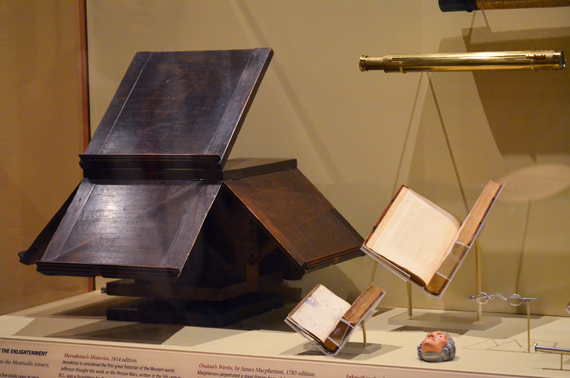 original bookstand on display at                 the Smithsonian